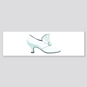 Bridal Wedding Shoe Bumper Sticker