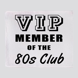 80's Club Birthday Throw Blanket