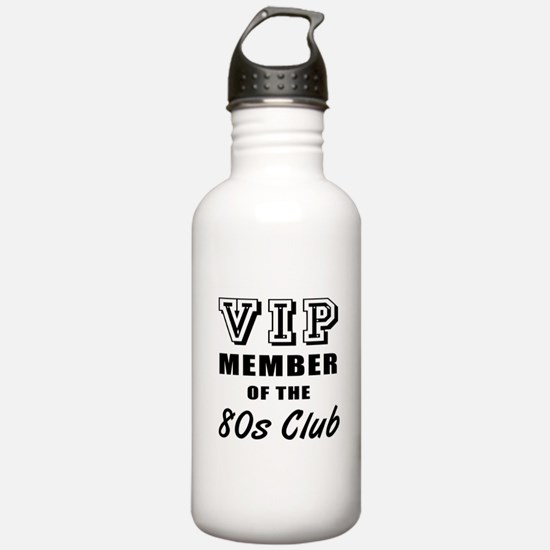 80's Club Birthday Water Bottle