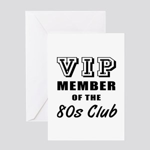 80's Club Birthday Greeting Card