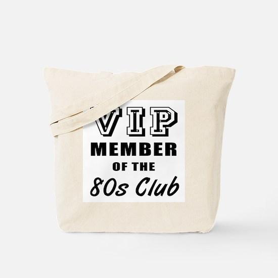 80's Club Birthday Tote Bag