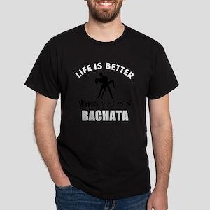 Bachata  dancing designs Dark T-Shirt
