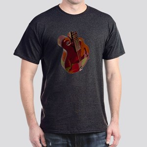 F style mandolin on a Dark T-Shirt