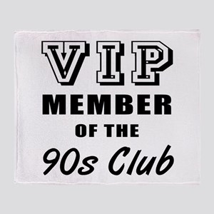 90's Club Birthday Throw Blanket