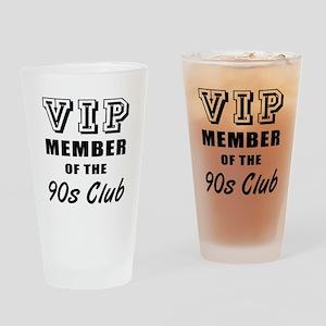 90's Club Birthday Drinking Glass