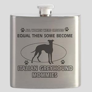 Italian Grey Hound dog breed Flask