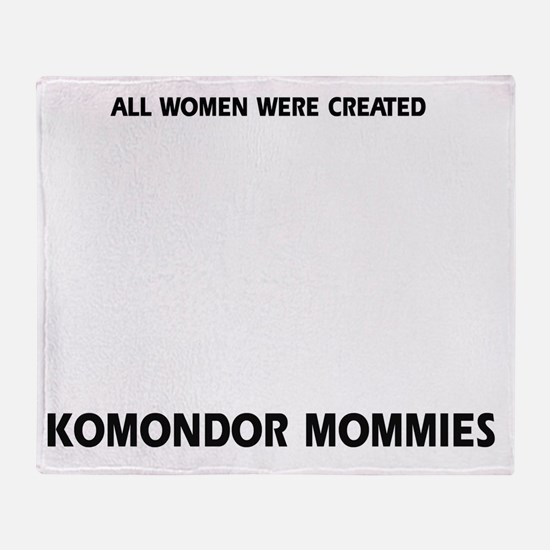 Komondor dog breed designs Throw Blanket