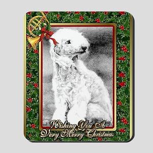 Bedlington Terrier Dog Christmas Mousepad