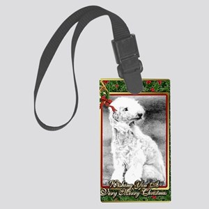 Bedlington Terrier Dog Christmas Large Luggage Tag