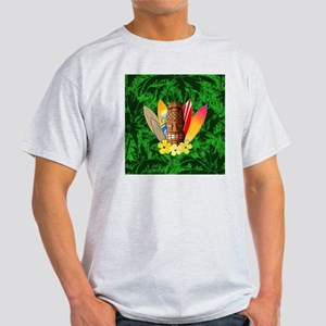 Tiki And Surfboards Light T-Shirt
