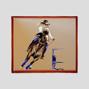 Barrel Horses Throw Blanket