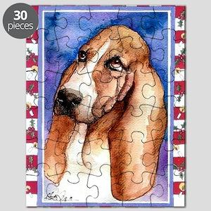 Basset Hound Dog Christmas Puzzle