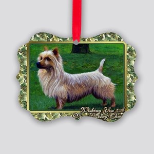 Australian Terrier Dog Christmas Picture Ornament