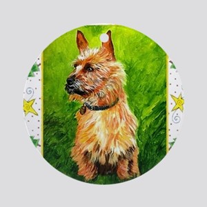 Australian Terrier Dog Christmas Round Ornament