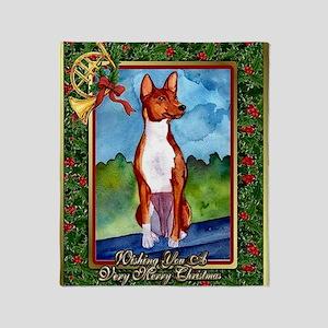 Basenji Dog Christmas Throw Blanket