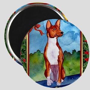 Basenji Dog Christmas Magnet