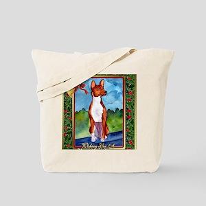 Basenji Dog Christmas Tote Bag