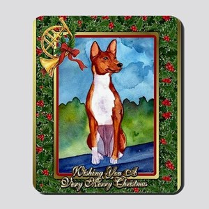 Basenji Dog Christmas Mousepad