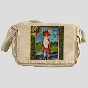 Basenji Dog Christmas Messenger Bag