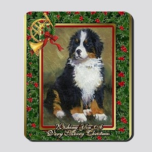 Bernese Mountain Dog Christmas Mousepad