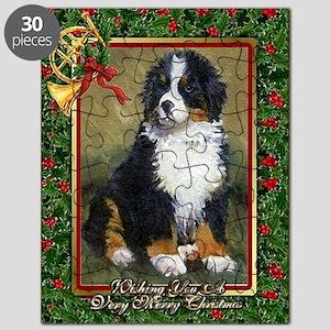 Bernese Mountain Dog Christmas Puzzle