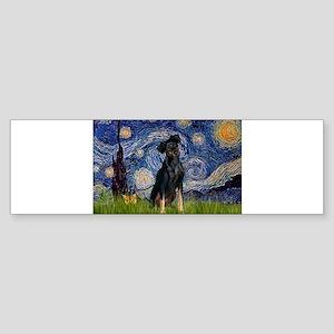 5.5x7.5-Starry-MinPin2-Nat Bumper Sticker