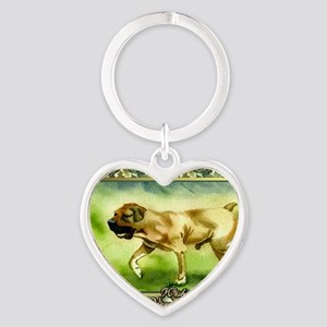 Boerboel Dog Christmas Heart Keychain
