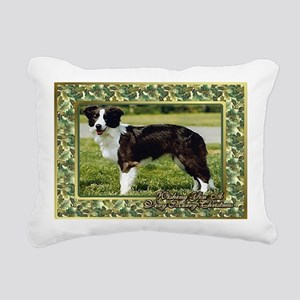 Border Collie Dog Christ Rectangular Canvas Pillow