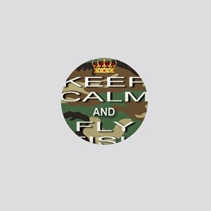 Keep Calm and Fly Fish Mini Button