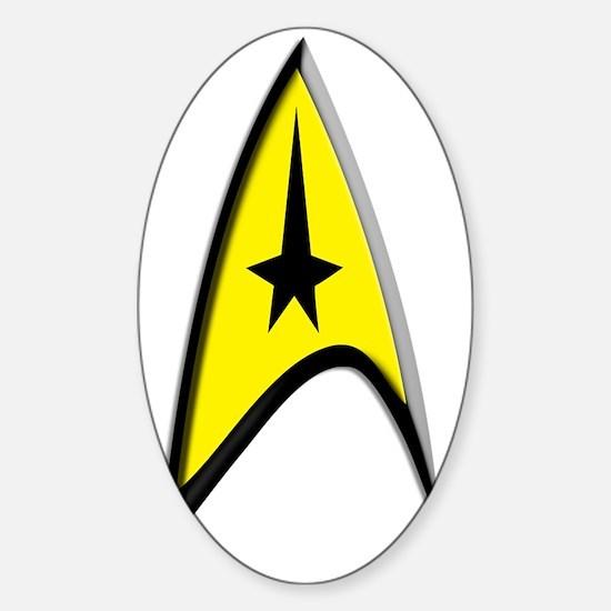 Star Trek Captain Kirk Sticker (Oval)
