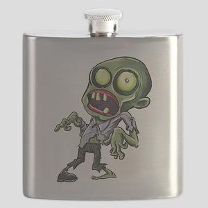Scary cartoon zombie Flask