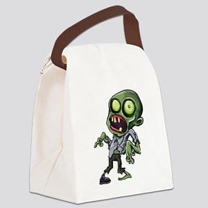 Scary cartoon zombie Canvas Lunch Bag