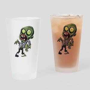 Scary cartoon zombie Drinking Glass