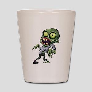 Scary cartoon zombie Shot Glass