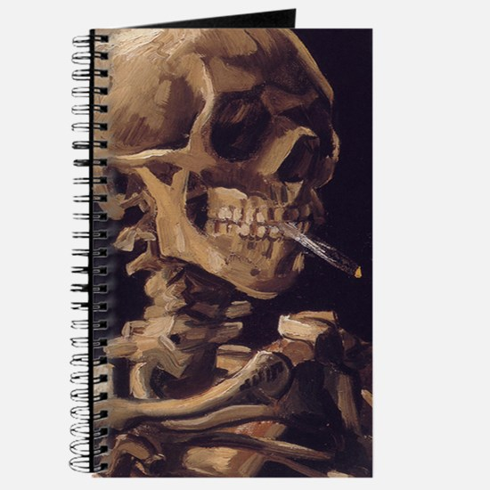 Van Gogh Skull with a burning cigarette Journal