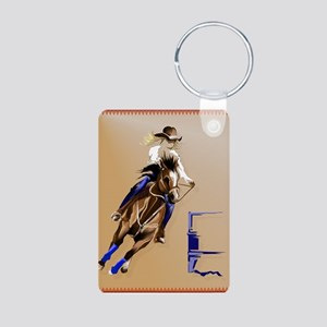 Circle Barrel Horses Keychains