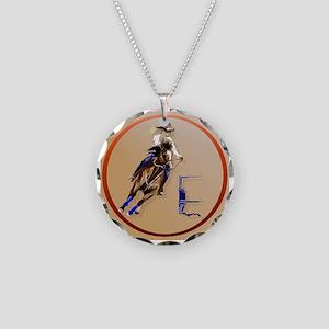 Circle Barrel Horses Necklace
