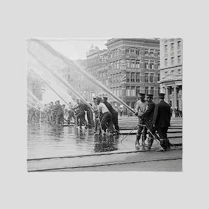 New York City Firemen Throw Blanket