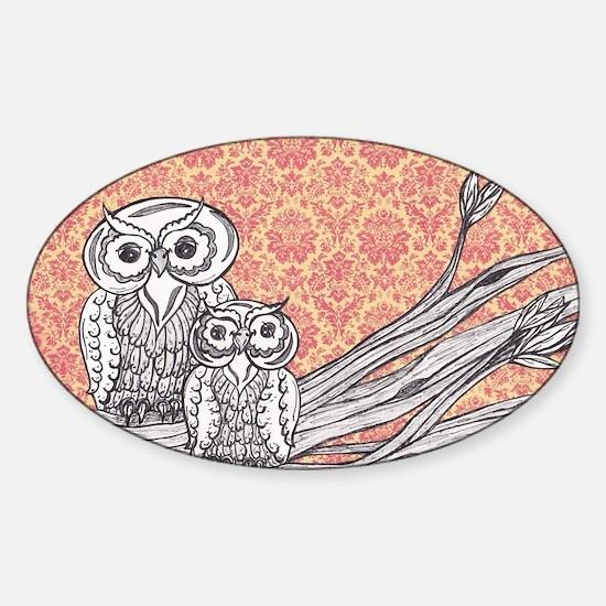 Owls 47 Sticker (Oval)