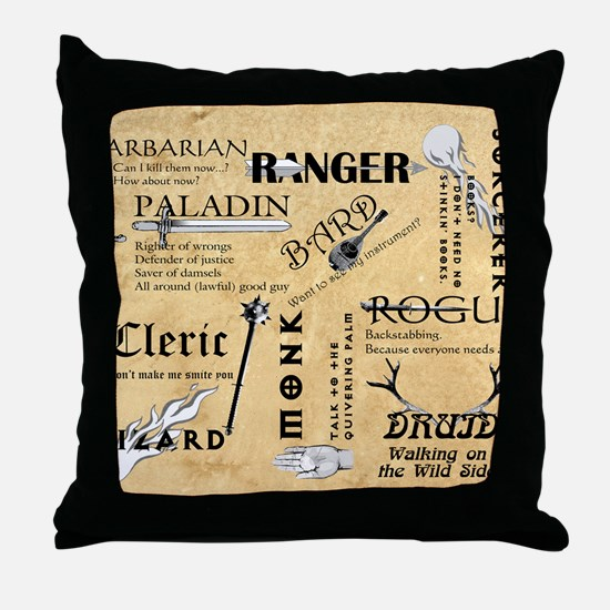 Classes Throw Pillow