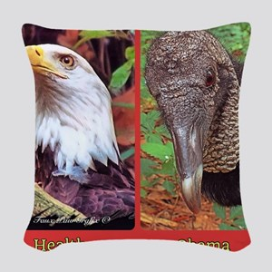 Health care vs Obamacare Woven Throw Pillow