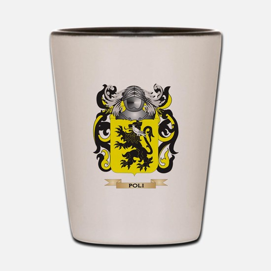 Poli Coat of Arms (Family Crest) Shot Glass