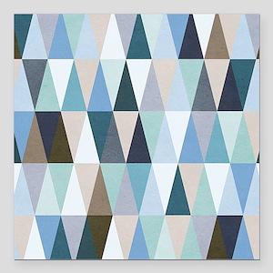 "Geometric Pattern Square Car Magnet 3"" x 3"""