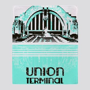 Union Terminal Throw Blanket