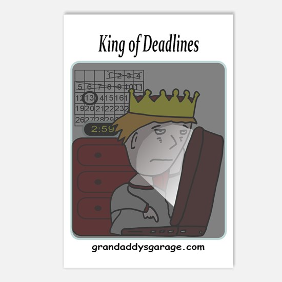 King of Deadlines Postcards (Package of 8)