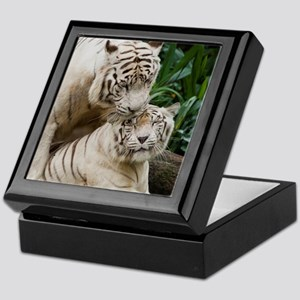 Kiss love peace and joy white tigers  Keepsake Box