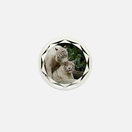 Kiss love peace and joy white tigers l Mini Button