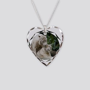 Kiss love peace and joy white Necklace Heart Charm