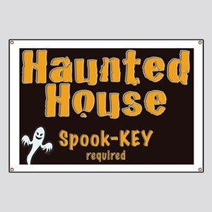 Haunted House Spook-key  yard sign Banner