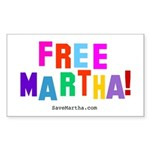 Free Martha Sticker (Rect.)